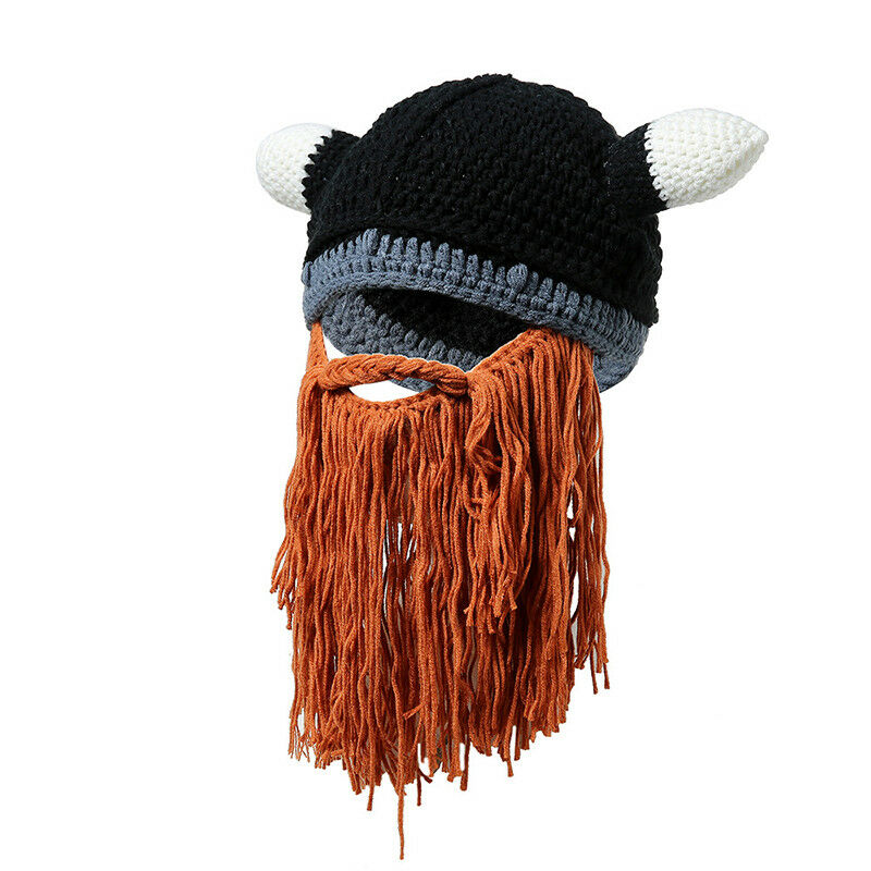 2c4f3d7c981 1 of 12FREE Shipping Barbarian Looter Knit Crochet Beanie Cap Winter Warm  Beard Hat Moustache Ski Hat