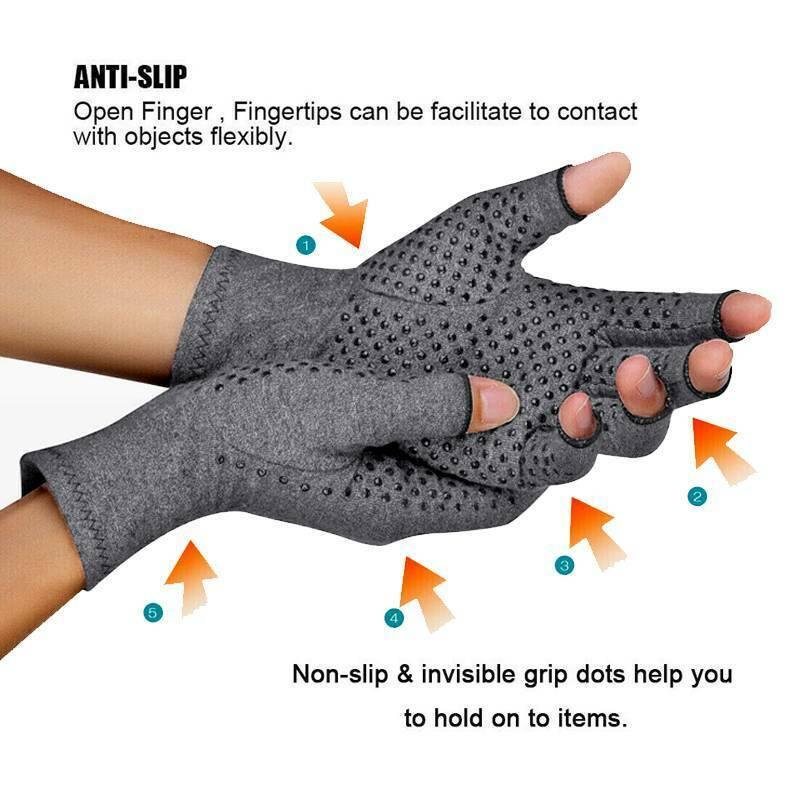 Anti Arthritis Gloves Hand Support Pain Relief Arthritis Finger Compression GW 6