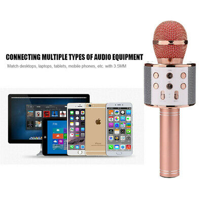 UK Karaoke Microphone Wireless bluetooth Handheld Mic KTV USB Speaker Player 11