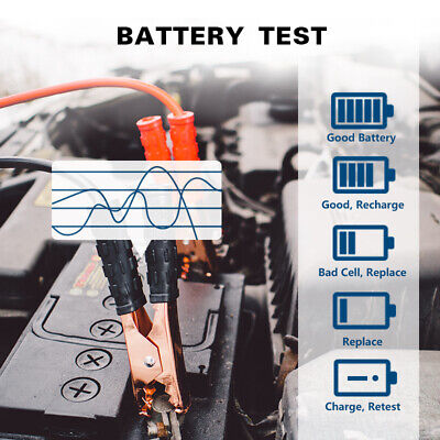 SALE! Auto Car Battery Tester Charger Charging Cranking Test 100-2000CCA 12V 24V 5