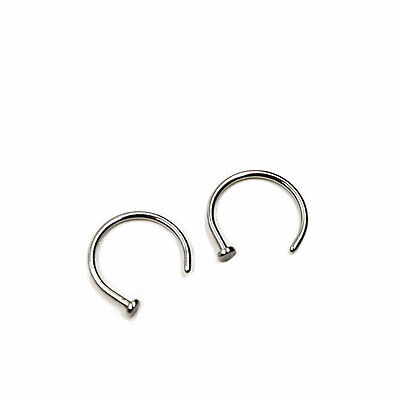 Mince en acier chirurgicale anneau de nez ouvert anneaux piercing bijoux corps*T