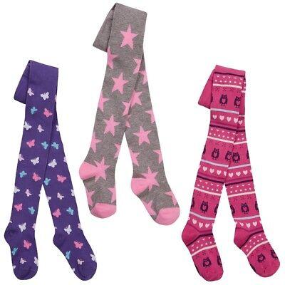 Girls Purple Fox Butterfly Grey Unicorn Star Pink Owl Tights 2-3-4-5-6-7-8 Years 5