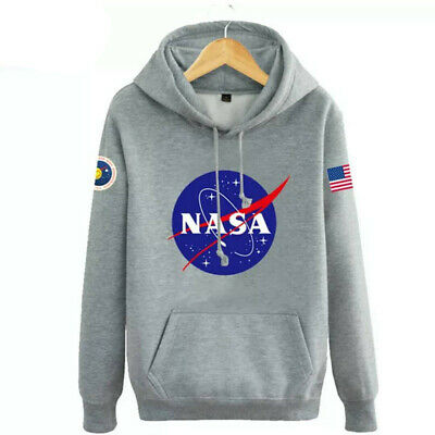 Hommes Sweat à capuche Nasa Space Pull-over Amoureux Manteau Pull Sweat-shirt 2