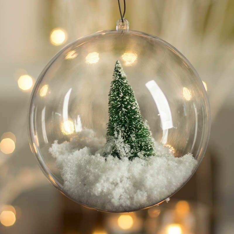 3 of 12 10X Clear Plastic Ball Baubles Sphere Fillable Christmas Ornament  Craft Gift Box - 10X CLEAR PLASTIC Ball Baubles Sphere Fillable Christmas Ornament Craft  Gift Box