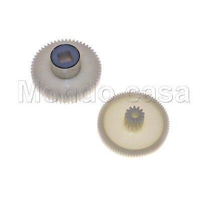 REBER Kit Ingranaggi Pignone Rulli Plastica Motore Passa Pomodoro N 3 9800N 3