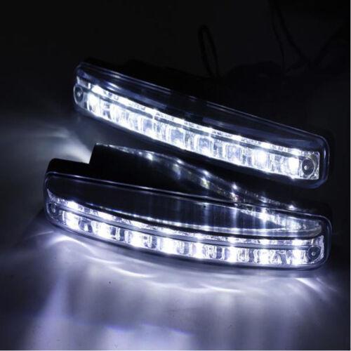 Car Light 8LED DRL Fog Driving Daylight Daytime Running LED White Head Lamp 2