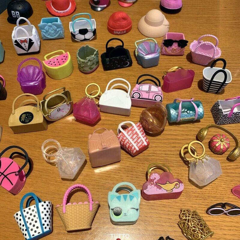 random 7X Bags LOL Surprise LiL Sisters bag/hat Glasses L.O.L. Doll Accessories 7