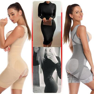 Women Full Body Shaper Compression Postpartum Shapewear BodySuit Corset Girdle 9