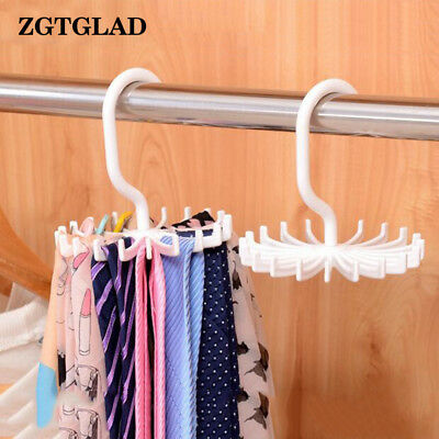 Adjustable 360°Rotating 20 Hook Belt Organizer Scarf Tie Rack Hanger Tie G2T8