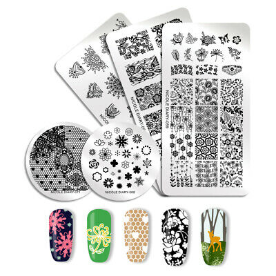 121 Patterns NICOLE DIARY Nail Stamping Plates Stainless Steel Nail Art Tool 6