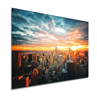 Modern Art New York City Sunset Poster Wall Cityscape Cloth Print Home Decor New 9