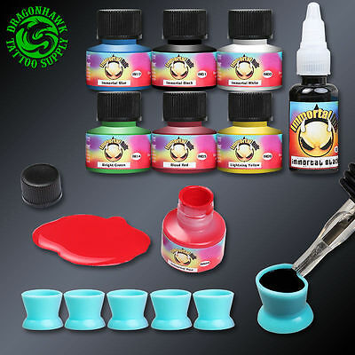 Professional Tattoo Kits Complete Set Machine Gun Lining And Shading Tattoo Inks 10