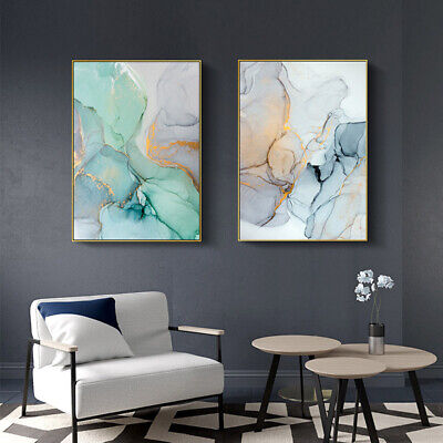 Marble Texture Canvas Poster Abstract Nordic Wall Art Print Modern Home Decor 2