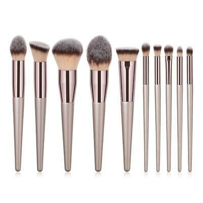10Pcs Make Up Brushes Set Professional Blusher Powder Foundation Eyeshadow Tools 2