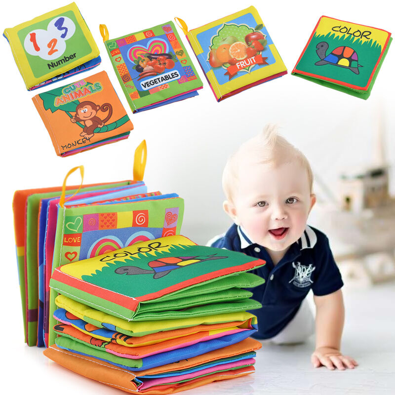 Intelligence development Cloth Bed Cognize Book Educational Toy for Kid Baby Hot 2