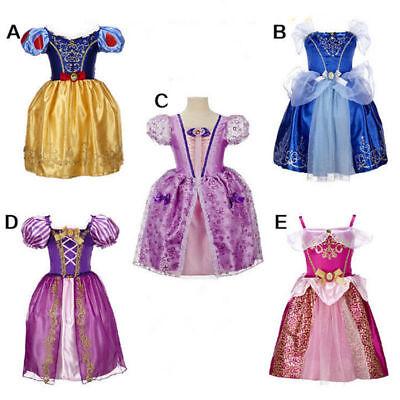 Belle Filles Robe de Princesse Déguisement Rapunzel  Cendrillon Sofia Cosplay 2