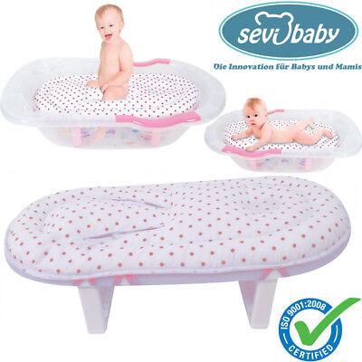 Sevibaby Weiß BLAU Baby Badeliege Aufsatz Hängematte Einlage Badewannensitz 09 3