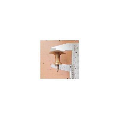 9 medium screw KNOBS pulls handles antique solid heavy brass drawer knob 30mm B 3