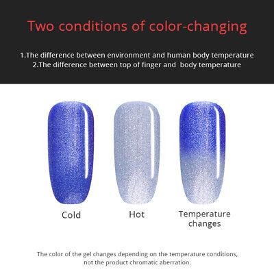 UR SUGAR Vernis UV Gel Thermique Nail Art UV Gel Polish Soak off Color Changing 8