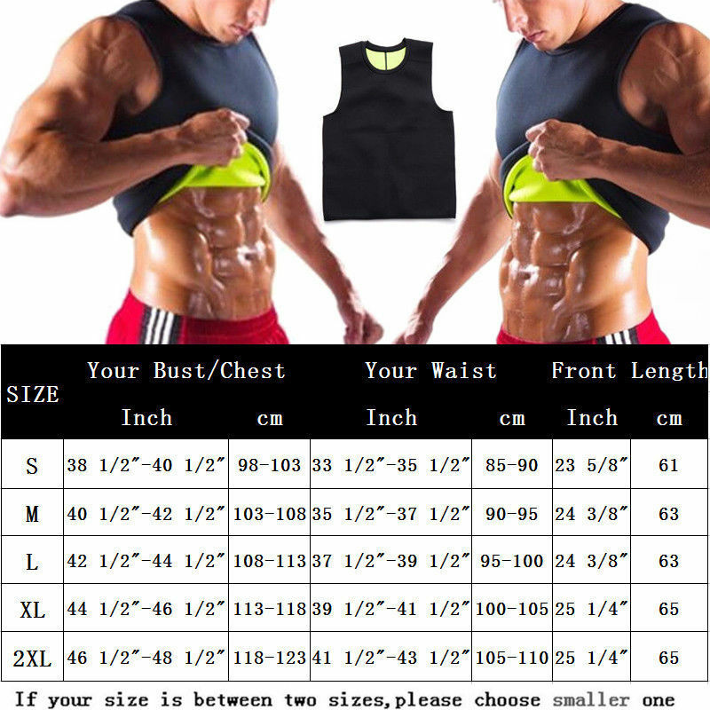 HOT Thermo Body Shaper Sauna - Vest Men Women Slim Tank Top Waist Trainer Shirt