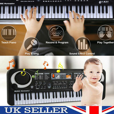 61 Keys Digital Electric Piano Music Electronic Keyboard Organ Mini Microphone 2