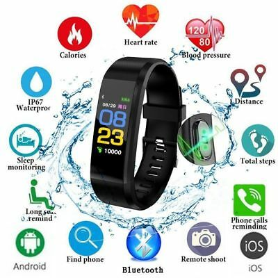 Smart Watch Bracelet Heart Rate Blood Pressure Monitor Fitness Tracker Bluetooth 3