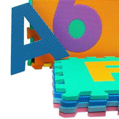 Puzzle tapis mousse 86 pièces Alphabet et chiffres 32x32 cm Tapis de jeu enfants 5