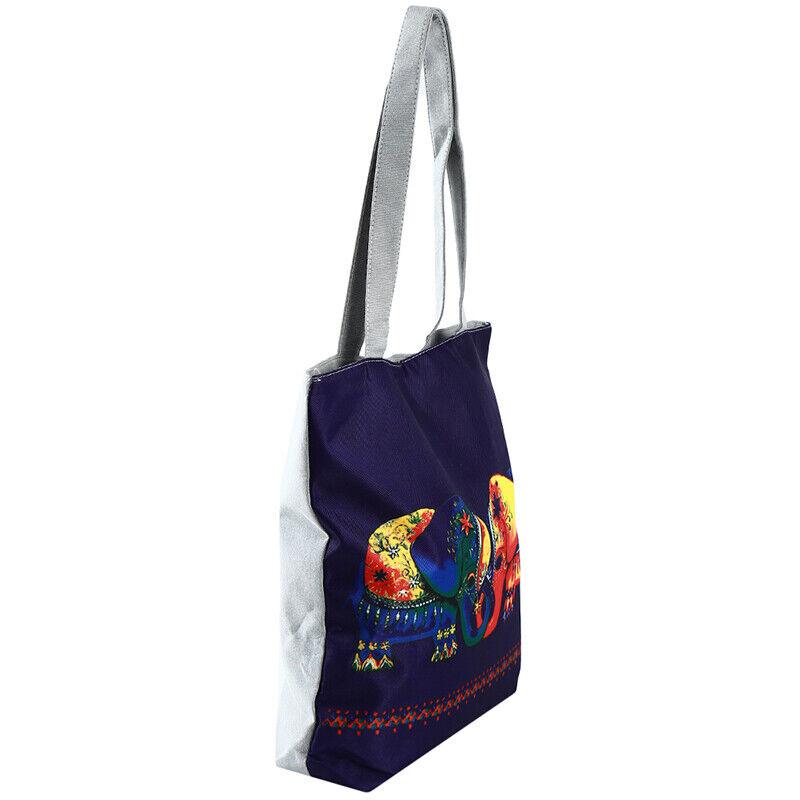 Handbag Elephant Printed Tote Casual Beach Bags Shoulder Shopping Casual JJ 9