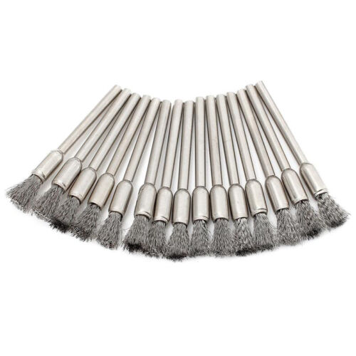 10x 3mm Rotary Steel Wire Wheel Brush Cup Tool Shank for Drills Rust Weld T6V5 11