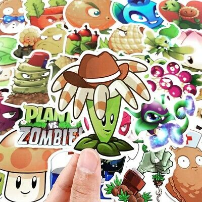 Zombies Stickers pvz Luggage Decal Ornament Mark 100pc No repeat Plants vs