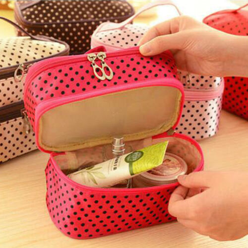 Women Cosmetic Make Up Travel Toiletry Bag Pouch Organizer Handbag Case Storage 7