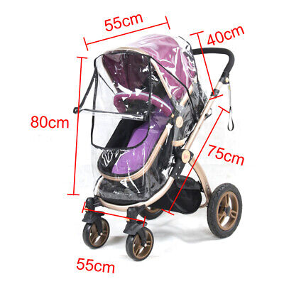 Universal Buggy Rain Cover Baby Pushchair Stroller Pram Buggy Clear Raincover UK 2