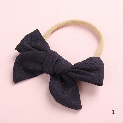 Baby Kids Toddler Soft Cotton Bow Tie Ring Nylon Headband Girls Hair Accessories 8