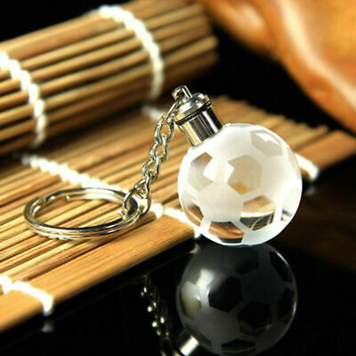 Crystal Ball 3D Engraved Key Chain Ring Keyring Keychain LED Glow Pendant Gift 7