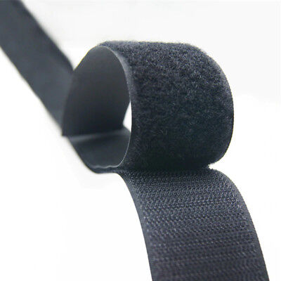 Self Adhesive HOOK and LOOP Fastener Tape Sticky Back Black or White Fastening 6