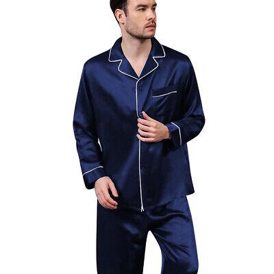 Mens Silk Satin  Pajamas - PJ Set  Top and Bottom 10