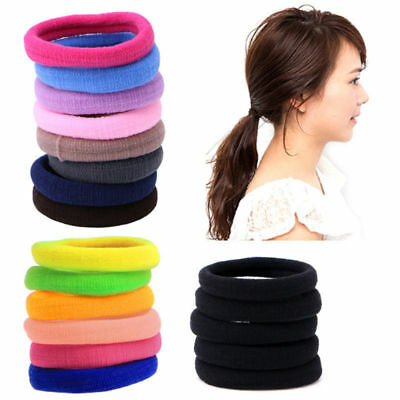 50/100x Women Girls Hair Band Ties Rope Ring Elastic Hairband Ponytail Holder # 4