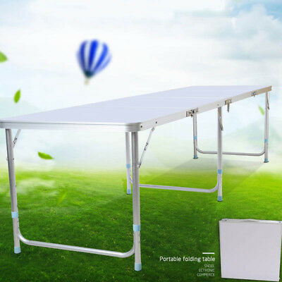 6Ft Folding Trestle Table Picnic/Camping/Bbq Banquet/Party/Garden Heavy Duty Uk 2