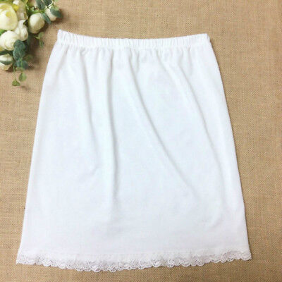 "Black White Women Waist Slip Lady Underskirt Petticoat Half Slips 23-39"" New"