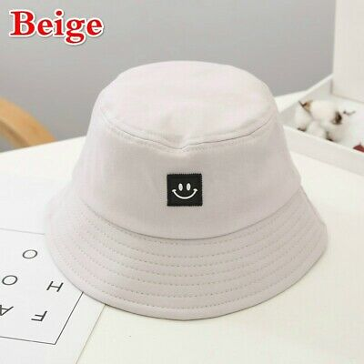 Unisex Foldable Smile Bucket Hat Outdoor Sunscreen Cap Smile Face Fisherman Hats 11