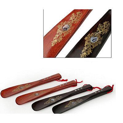 Guide de chaussures durables et légères en bois de chausse-pied long en corne/_FR