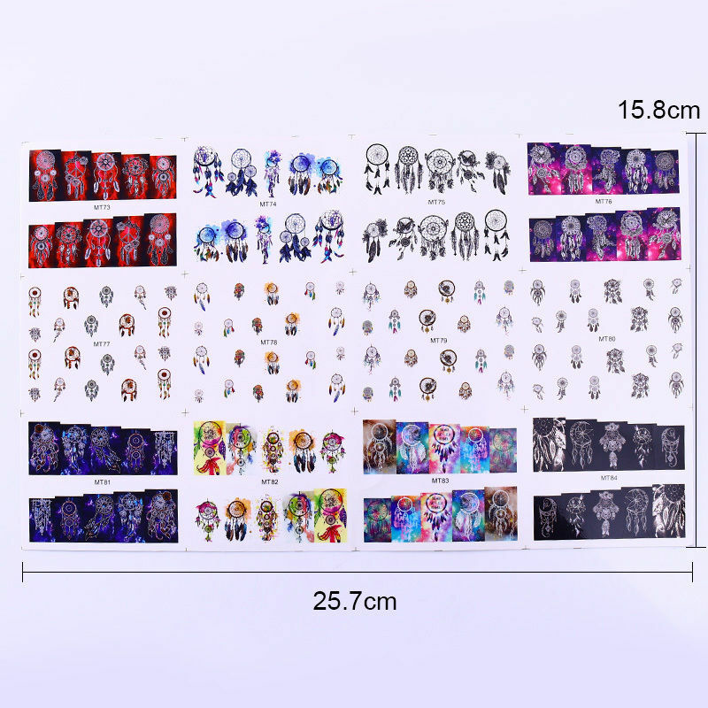 12pcs in1 Flamingo Animal Nail Art Water Decal Stickers Manicure Tips Decoration