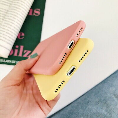 Frosted Matte Candy Soft Silicone Case Cover For iPhone XS Max XR X 8 7 6s Plus 4