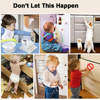 5/10pcs Baby Safety Magnetic Cabinet Locks Invisible Child Proof Cupboard Drawer 10