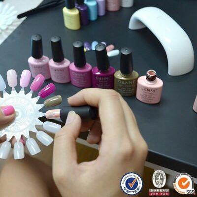 Nail gel polish set CANNI Soak off UV LED Colour Glitter Base Top Coat Varnish 11
