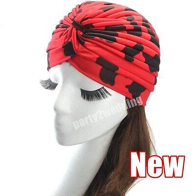 Ladies Stretch Headcover Head Wrap Beanie Chemo Bandana Animal Print Hat Turban 3