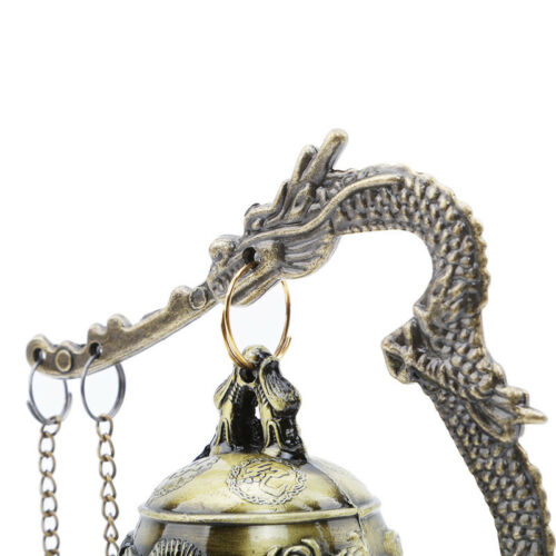 Gift Bronze Lock Home Decoration Retro Ornament Chinese Style Hit Dragon Bell 2