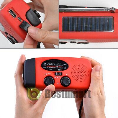 1000mAh Emergency Solar Hand Crank Radio NOAA Weather w/AM/FM LED Flashlight SOS 11