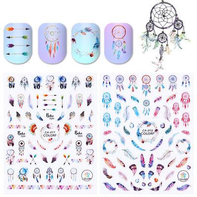 Pegatinas de Uñas 3D Calcomanías Nail Stickers 3D Decals Nail Art Dream Catcher 4