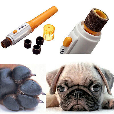 Pet Dog Cat Nail  Grinder Trimmer Clipper Electric Nail File kit 3
